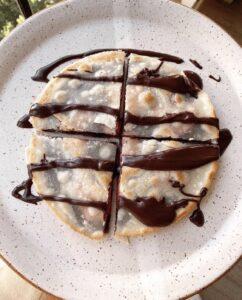 Healthy Chocolate & Strawberry Quesadilla